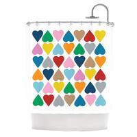 KESS InHouse Project M Diamond Hearts Shower Curtain (69x70)