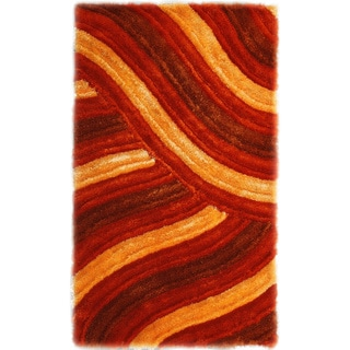 Noble House Inc 'Bristol' Shag Multicolor Polyester Rug (5' x 8')