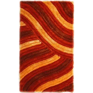 Noble House Inc 'Bristol' Shag Multicolor Polyester Rug (5' x 8')