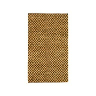 Noble House Inc. Coster Flatweave Leather/ Chenille Rug (5' x 8')