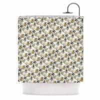 Kess InHouse Pom Graphic Design Golden Apothecary  Gold Black Shower Curtain
