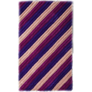 Noble House Inc Bristol Pink/ Purple Shag Area Rug (5' x 8')