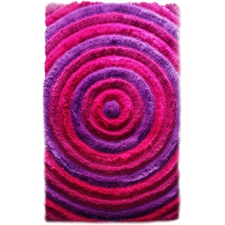 Noble House Bristol Pink/ Purple Shag Area Rug (5' x 8')