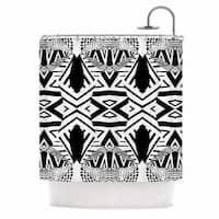 Kess InHouse Pom Graphic Design Africa Black White Shower Curtain