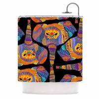 Kess InHouse Pom Graphic Design The Elephant in The Room Rainbow Tribal Shower Curtain