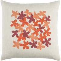 Decorative Poole 18-Inch Feather Down or Poly Filled Throw Pillow