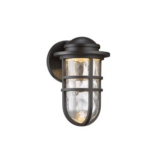WAC Lighting Steampunk Aluminum/Bronze/Glass 9-inches 1-light LED Wall Sconce