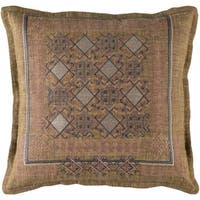 Decorative Rachel 22-Inch Feather Down or Poly Filled Throw Pillow