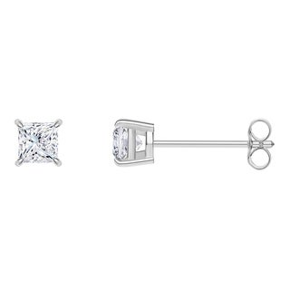 18k White Gold Princess-cut IGI Certified 1/5CTtw Diamond Stud Earrings