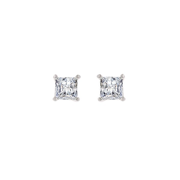 e1c4e3880 Shop 18K White Gold Diamond Stud Earrings - Princess 1/2 CTTW - IGI  Certified - On Sale - Free Shipping Today - Overstock - 13088322