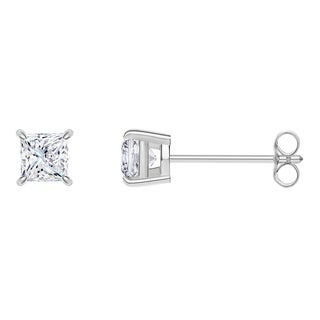 Platinum Princess-cut IGI Certified 1/2CTtw Diamond Stud Earrings