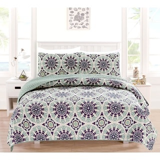 Delano Collection 3-Piece Printed Quilt Set with Shams