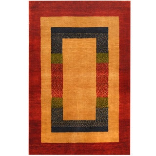 Herat Oriental Indo Hand-knotted Gabbeh Wool Rug (2'6 x 3'10)