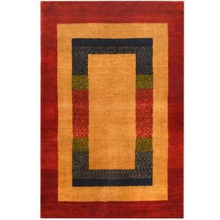 Handmade Herat Oriental Indo Gabbeh Wool Rug (India) - 2'6 x 3'10