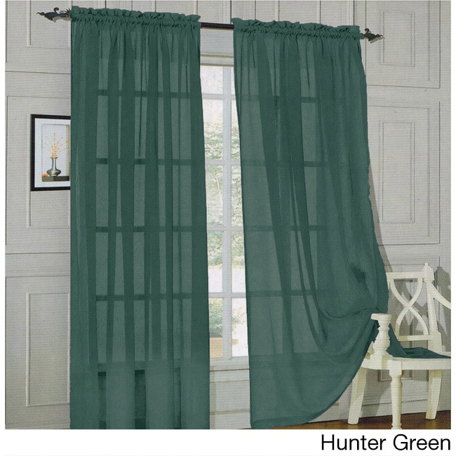 Elegant Comfort 84 Inch Window Sheer Curtain Panel Pair