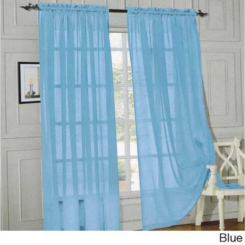 Elegant Comfort 84-inch Window Sheer Curtain Panel Pair - 60 x 84