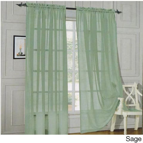 Elegant Comfort 84-inch Window Sheer Curtain Panel Pair