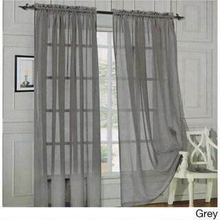 Elegant Comfort 84-inch Window Sheer Curtain Panel Pair (Option: Grey)