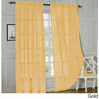 Elegant Comfort 84-inch Window Sheer Curtain Panel Pair (Option: Gold)