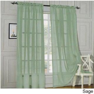 Elegant Comfort 84-inch Window Sheer Curtain Panel Pair