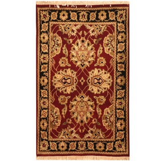 Herat Oriental Indo Hand-knotted Kashan Wool Rug (2'6 x 4')