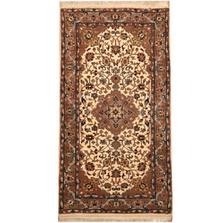 Herat Oriental Indo Hand-knotted Kashan Wool Rug (2'4 x 4'7)