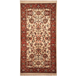 Herat Oriental Indo Hand-knotted Kashan Wool Rug (2'4 x 4'10)