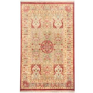 Herat Oriental Pakistani Hand-knotted Tabriz Wool Rug (2'7 x 4'10)