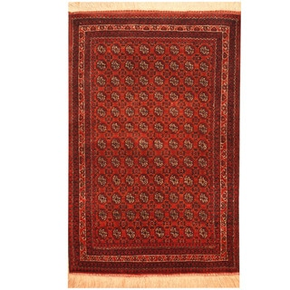 Herat Oriental Afghan Hand-knotted Turkoman Wool Rug (2'9 x 4')