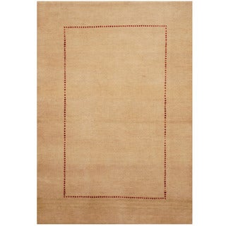 Herat Oriental Indo Hand-knotted Gabbeh Wool Rug (2'4 x 3'6)
