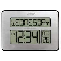 La Crosse Technology 513-1419-INT Atomic Calendar Digital Clock with Extra Large Digits