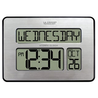 La Crosse Technology 513-1419-INT Atomic Full Calendar Clock