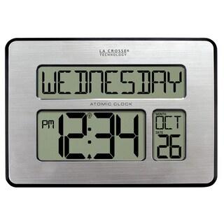 La Crosse Technology 513-1419-INT Atomic Calendar Digital Clock with Extra Large Digits