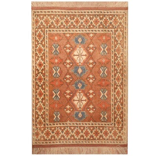 Handmade One-of-a-Kind Turkoman Silk Rug (Afghanistan) - 2'7 x 4'