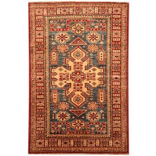 Herat Oriental Afgan Hand-knotted Super Kazak Wool Rug (2'7 x 4')
