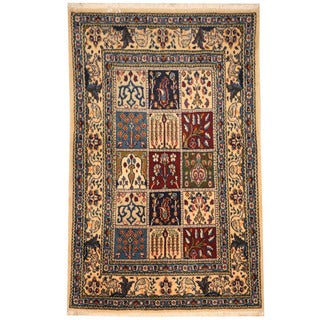 Herat Oriental Persian Hand-knotted Nain Wool/ Silk Rug (2'7 x 4')