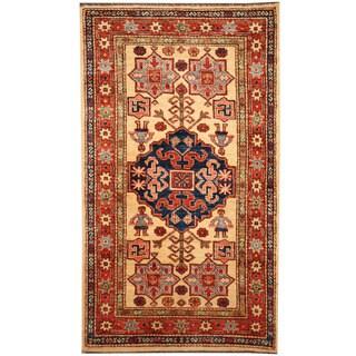 Herat Oriental Afghan Hand-knotted Tribal Super Kazak Wool Rug (2'8 x 4'7)