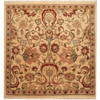 Herat Oriental Afghan Hand-knotted Vegetable Dye Oushak Wool Rug (3' x 3')