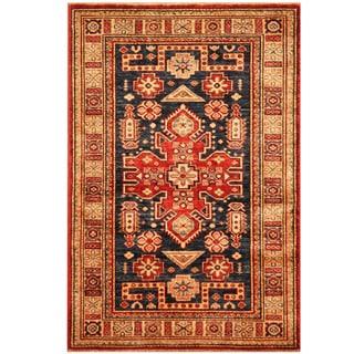 Herat Oriental Afghan Hand-knotted Tribal Super Kazak Wool Rug (2'10 x 4'2)