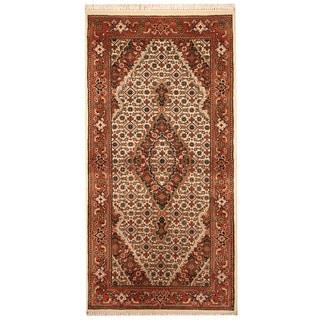 Herat Oriental Indo Hand-knotted Tabriz Wool/ Silk Rug (2'4 x 4'8)