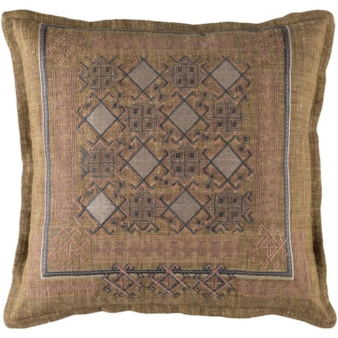 Decorative Rachel 18-Inch Feather Down or Poly Filled Throw Pillow
