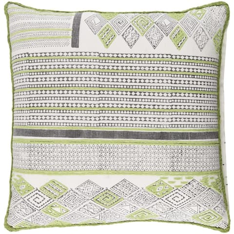 Decorative Prance 18-Inch Feather Down or Poly Filled Throw Pillow