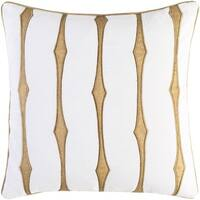 Decorative Pool 18-Inch Feather Down or Poly Filled Throw Pillow