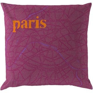 Decorative Pamplona 18-Inch Down or Poly Filled Throw Pillow