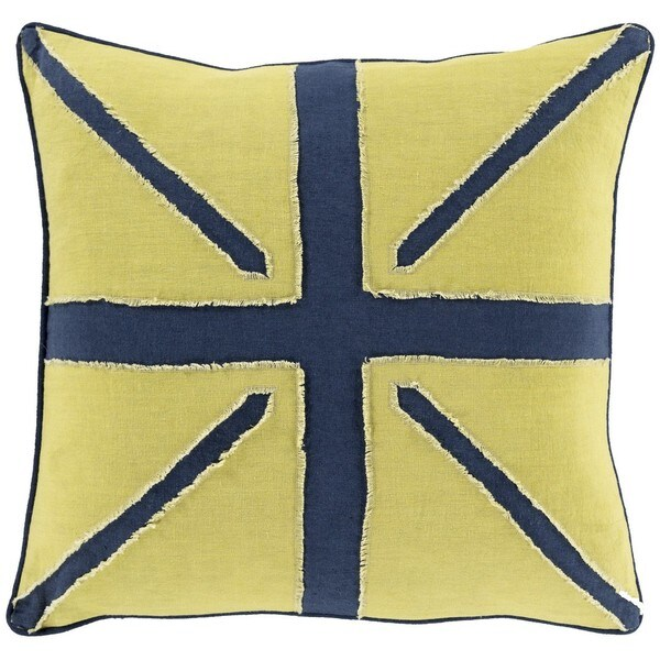 Decorative Orvault 18-Inch Down or Poly Filled Throw Pillow