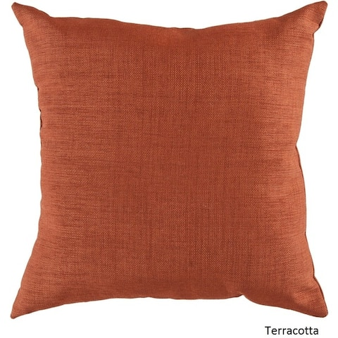 Decorative Orange 18-Inch Feather Down or Poly Filled Throw Pillow