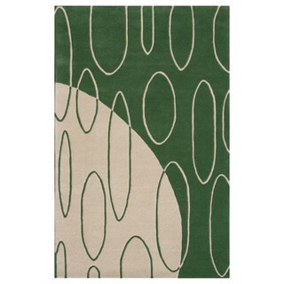 Noble House Inc Aria Beige/ Green New Zealand Wool Hand-tufted Rug (7'9 x 10'6)
