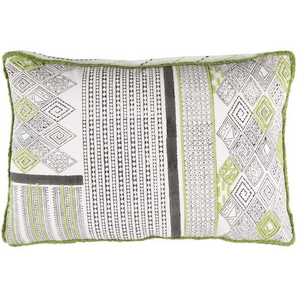 Decorative Prance Feather Down or Poly Filled Throw Pillow (13 x 19)