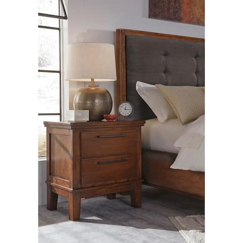 Ralene Medium Brown Two Drawer Night Stand
