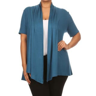 Women's Rayon Blend Plus Size Solid Cardigan|https://ak1.ostkcdn.com/images/products/13091441/P19824795.jpg?impolicy=medium